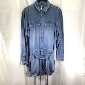 NWT Free People Denim Jumpsuit Size Small